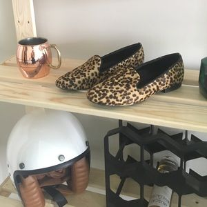 Anthropologie Leopard Loafers